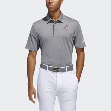 Men's Golf Grey Ultimate 2.0 Novelty Heather Polo Shirt