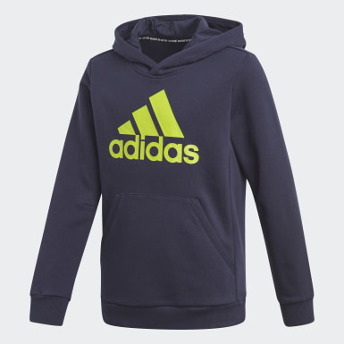 Jungen Training Must Haves Badge of Sport Hoodie Blau