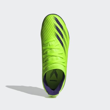 Bota de fútbol X Ghosted.3 multisuperficie Verde Niño Fútbol