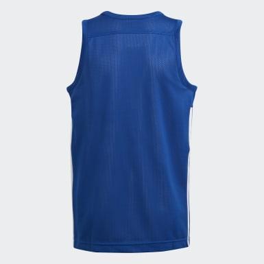 Kinderen Basketbal Blauw 3G Speed Reversible Shirt