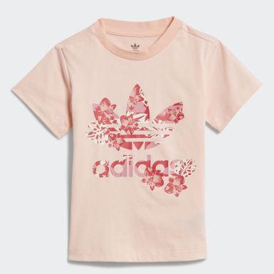 Meisjes Originals Roze Trefoil T-shirt