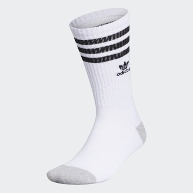Men's Originals White Recycled Roller Crew Socks