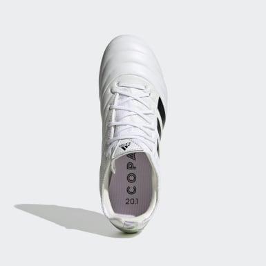 Botas de Futebol Copa 20.1 – Piso firme Branco Rapazes Futebol