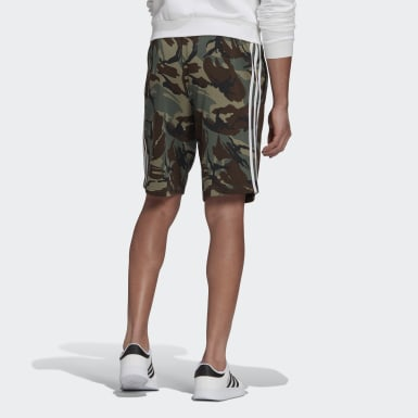 Men's Essentials Green Essentials French Terry Camouflage Shorts