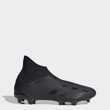 Football Black Predator 20.3 Laceless Firm Ground Boots