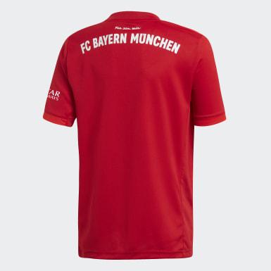 Boys Football Red FC Bayern Home Jersey
