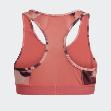 Girls Træning Pink Alphaskin Graphic AEROREADY bh