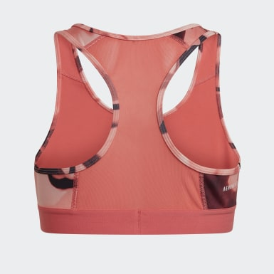 Mädchen Training Alphaskin Graphic AEROREADY Sport-BH Rosa