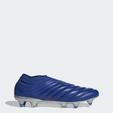 Bota de fútbol Copa 20+ césped natural húmedo Azul Fútbol