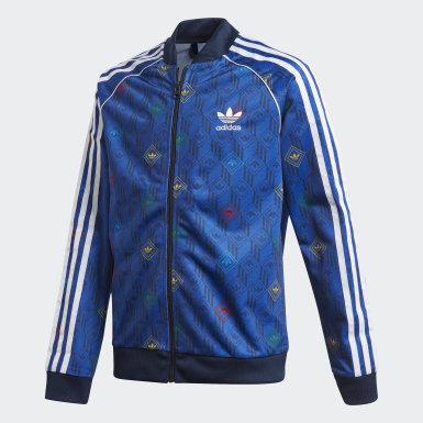 เด็ก Originals สีน้ำเงิน เสื้อแทรค SST