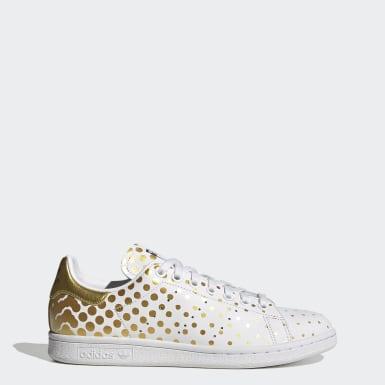 Sapatos Stan Smith Dourado Mulher Originals