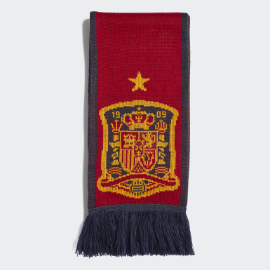 Soccer Red Spain Scarf
