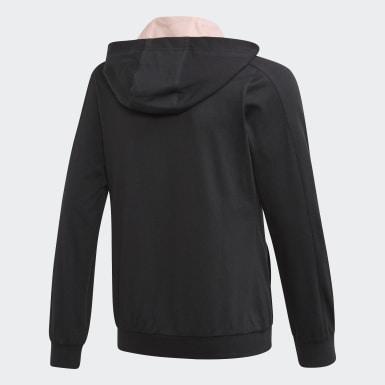 Sweat-shirt à capuche Kimana Noir Filles Training