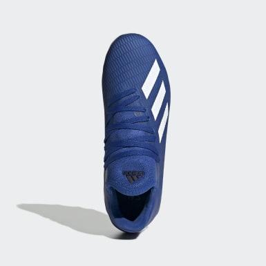 Bota de fútbol X 19.3 multiterreno Azul Niño Fútbol