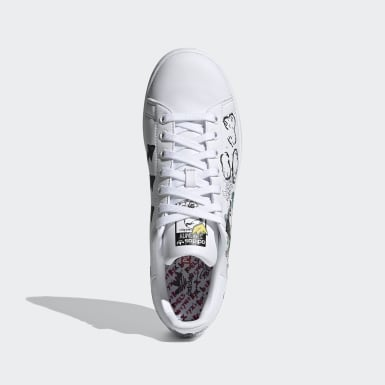 Men Originals White Mickey Mouse Stan Smith Shoes