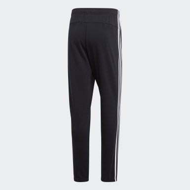 Heren Athletics Zwart Essentials 3-Stripes Broek