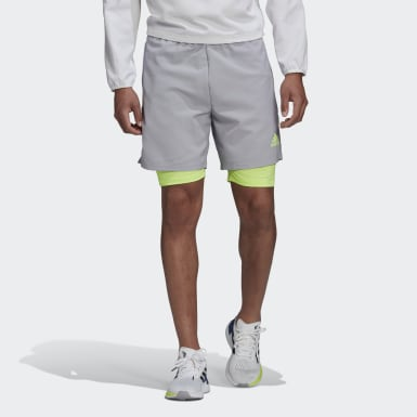 Men Running Grey Activated Tech Shorts