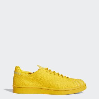 Originals Guld Pharrell Williams Superstar Primeknit sko