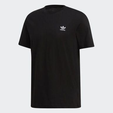 Men Originals Black Trefoil Essentials Tee