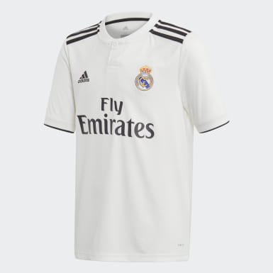 Camiseta de Local Real Madrid Réplica Blanco Niño Fútbol