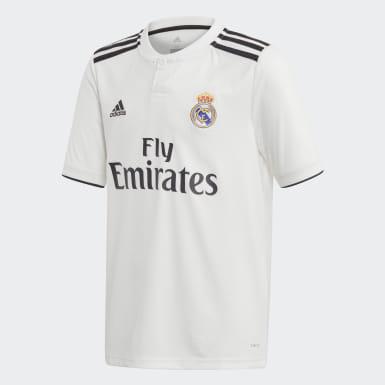 Maglia Home Real Madrid Bianco Bambini Calcio