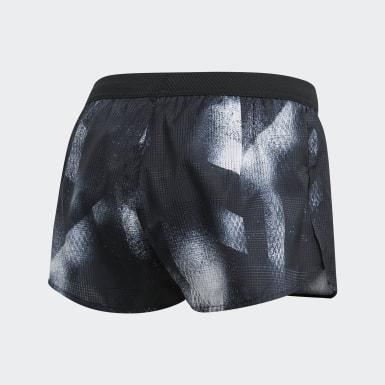 Shorts Split Sub - Tiro Alto Negro Mujer Running