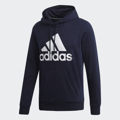 Heren Athletics Blauw Must Haves Badge of Sport Hoodie