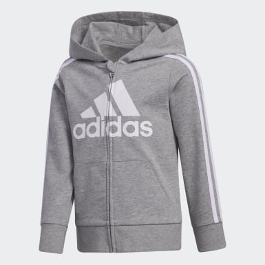 Youth Training Grey Essentials French Terry Hoodie and Joggers Set