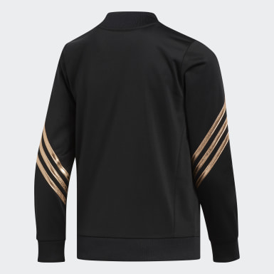 Youth Training Black Linear Tricot Jacket