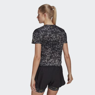 Women Running Grey Fast Primeblue Graphic Tee