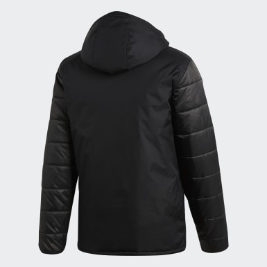 Men's Soccer Black Winter Jacket 18
