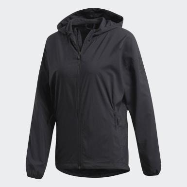 Veste à capuche Fleece Noir Femmes Training
