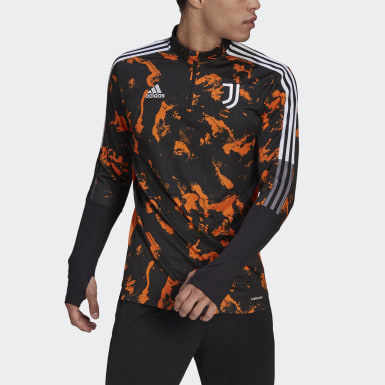 Men Football Black Juventus Graphic Track Top