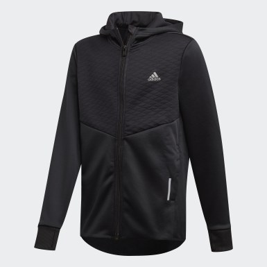 Boys Träning Svart AEROREADY Full-Zip Hoodie
