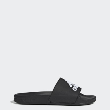 Men Swimming Black Adilette Shower Slides