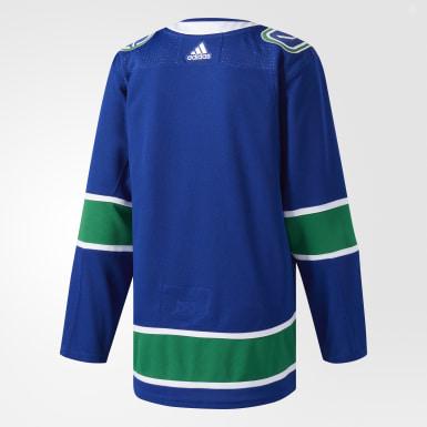Maillot Canucks Domicile Authentique Pro bleu Hockey