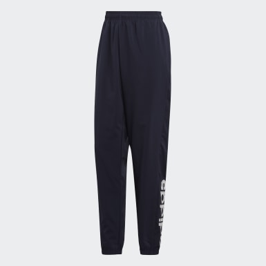Men Lifestyle Blue Essentials Linear Tapered Stanford Pants