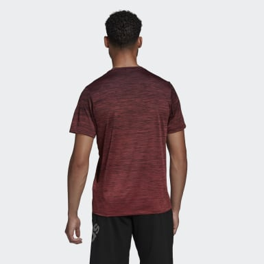 Men Yoga Red Tech Gradient Tee