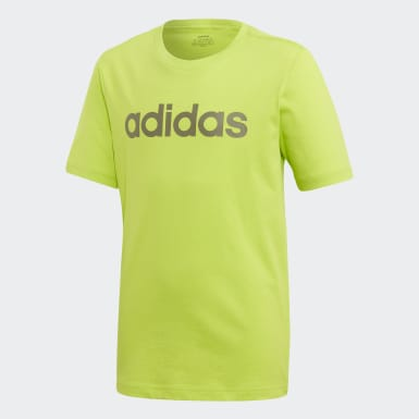 Remera Essentials Linear Logo Verde Niño Training
