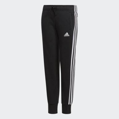 Youth Training Black Essentials 3-Stripes Pants