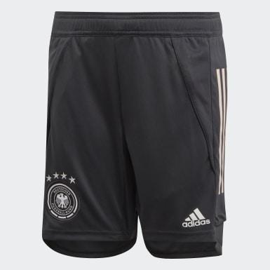Kinder Fußball DFB Trainingsshorts Grau