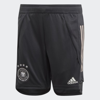 Youth 8-16 Years Football Grey Germany Training Shorts