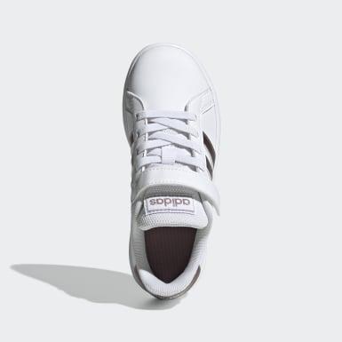 Chaussure Grand Court. Blanc Enfants Lifestyle