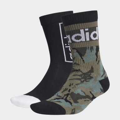 Trénink černá 2 páry ponožek Graphic Crew