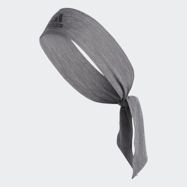 Training Grey Alphaskin Plus Tie Headband