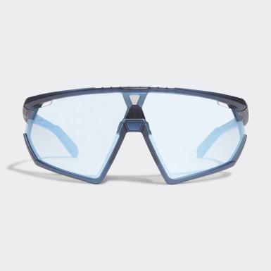 SP0001 Matte Blue Injected Sport Solbriller Blå