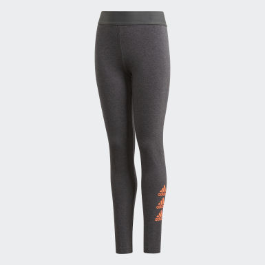 Girls Träning Grå Must Haves Badge of Sport Tights