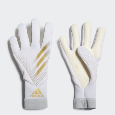 Youth 8-16 Years Football White X 20 Pro Junior Goalkeeper Gloves