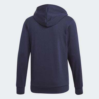 ผู้ชาย เทรนนิง สีน้ำเงิน เสื้อแทรคแจ็คเก็ต Essentials 3-Stripes