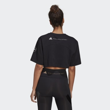 Γυναίκες adidas by Stella McCartney Μαύρο adidas by Stella McCartney Future Playground Cropped Tee